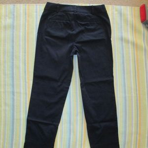 Talbots Navy Blue The Perfect Crop chino pants 4